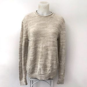 Abercrombie & Fitch Womens Knit Sweater Cream